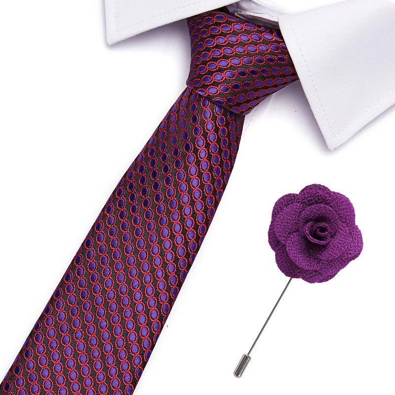 Fashion Neckties Men's Stripe Navy Blue Formal Wedding Ties Jacquard Woven 7.5 Cm 100% Silk Men Business Neck Ties Accessories