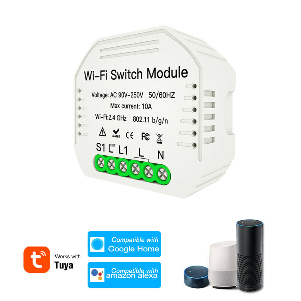 Smart Interruptor Wifi Switch Module Smart Life Tuya Switch Smart Home Breaker Module Alexa Amazon Google Home Home Automation