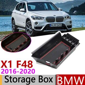 Для BMW X1 F48 X1M M power LHD ТОЛЬКО 2016 ~ 2020 подлокотника ящик для хранения, автомобильный Органайзер, аксессуары 2017 2018 2019