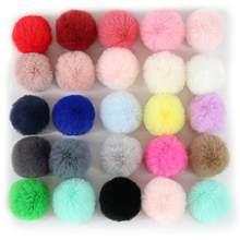 22 cores imitar coelho pele pompom bola 4cm natal pom pom pom chaveiro carro pompon vestuário brinquedos diy saco brinco ponpon decoração
