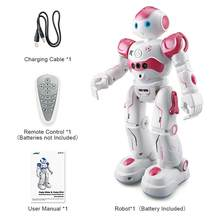 RC Robot Intelligent Programming Remote Control Robotica Toy Biped Humanoid Robot For Children Kids Birthday Gift Present(China)