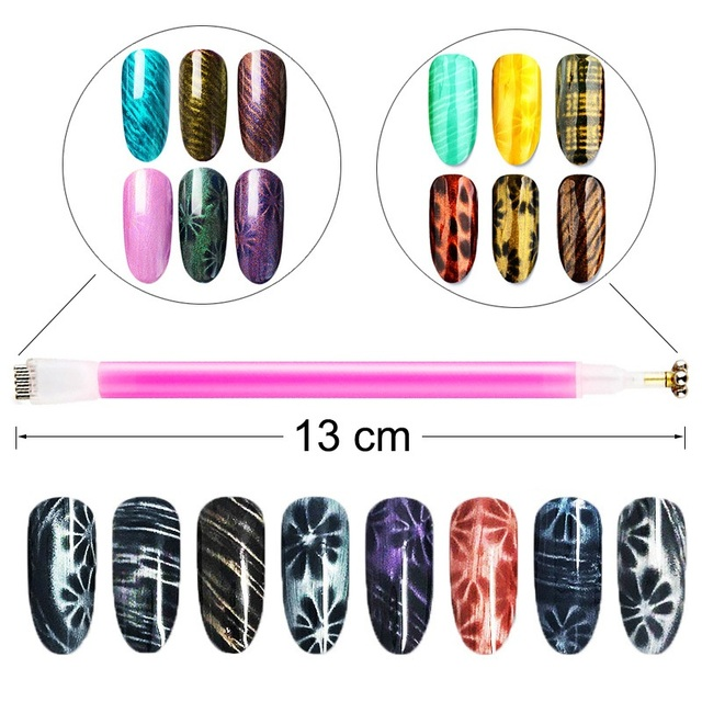 Nail Tools Cat Eye Magnetic Rod Powerful Magnet Suitable for cat eye gel polishing beauty nail tools Nail Art Decoration 2
