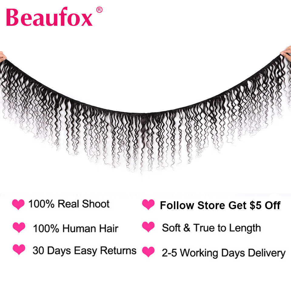Beaufox Water Wave Bundles With 360 Frontal Closure Malaysian Human Hair 3 Bundles With 360 Frontal Closure Remy Hair