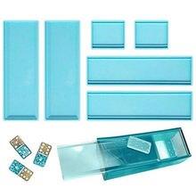 Dominosteine Lagerung Box Harz Mold Diy Handwerk Schmuck Lagerung Fall Halter Form Silikon Mould Container Casting Formenbau Werkzeuge