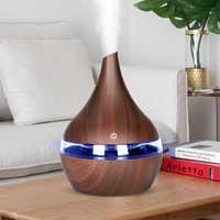 KBAYBO 300ml Ultraschall-luftbefeuchter USB Elektrische Aroma Air Diffusor Holz Ätherisches öl Aromatherapie Kühlen Nebel-hersteller für Home