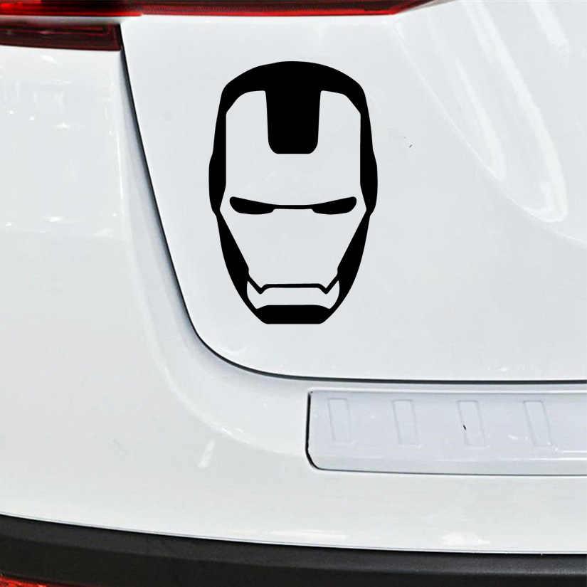 Hot Homem De Ferro Adesivos Voiture Cabeça Decalque Do Vinil Para O Espelho Retrovisor Do Carro Tampa Do Motor Decoração Janelas