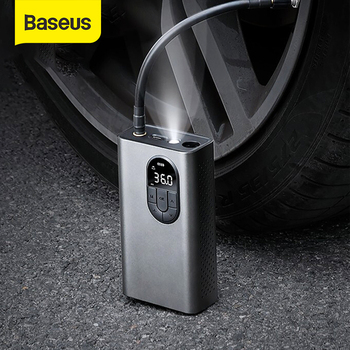 Baseus Car Air Compressor Inflator Pump w LED Lamp For Car Motorcycle Bicycle Tire Inflatable Wireless Electric Air Pump