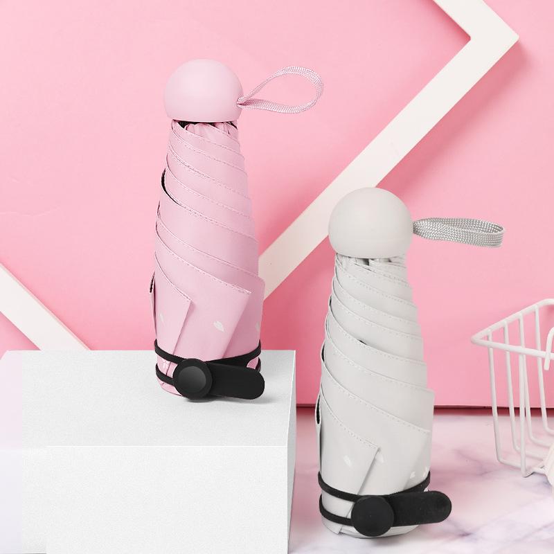 Half off Six Bone Cat Umbrella All-Weather Umbrella Creative Vinyl UV-Protection Folding Parasol Customizable Umbrella