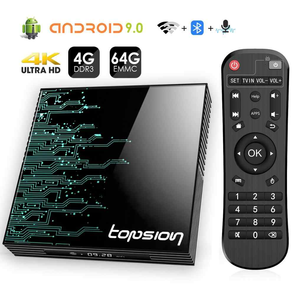 Android TV Box 9.0 4GB 64GB 4K H.265 lecteur multimédia 3D vidéo Google Assistant Netflix 2.4G 5GHz Wifi Bluetooth Smart TV Box