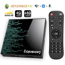Android tv Box 9,0 4GB 64GB 4K H.265 медиаплеер 3D видео Google Assistant Netflix 2,4G 5GHz Wifi Bluetooth Smart tv Box