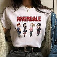 T-Shirt Women Snake-Print Harajuku Riverdale Southside Serpents Top-Tees Ullzang Kawaii