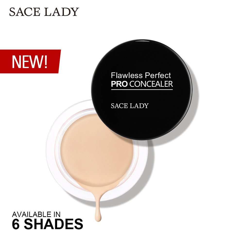 SACE LADY 6 color Full Cover concealer Makeup primer waterproof contour palette Eye Dark Circles Cream professional facial kit image