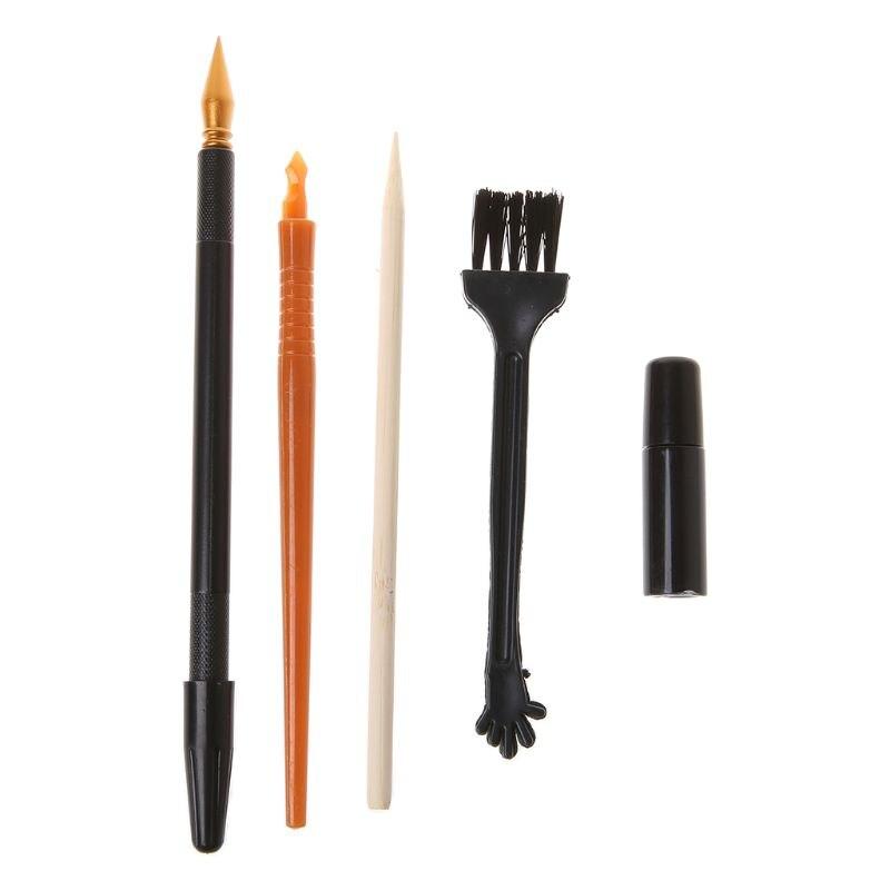 5Pcs Painting Drawing Scratch Arts Set Stick Scraper Pen Tools Creative DIY Necessaries Products New