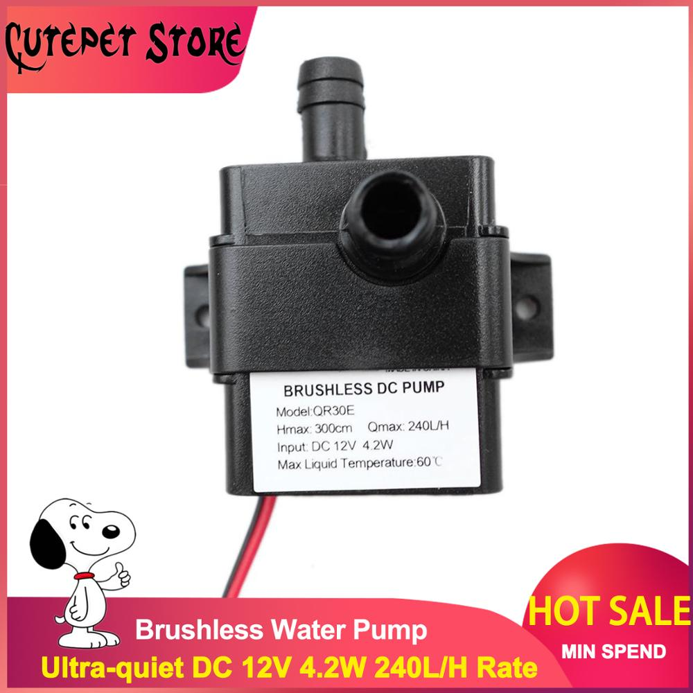 Ultra-quiet DC 12V 4.2W 240L/H Flow Rate Waterproof Brushless Pump Mini Submersible Water Pump  2019 Brand New