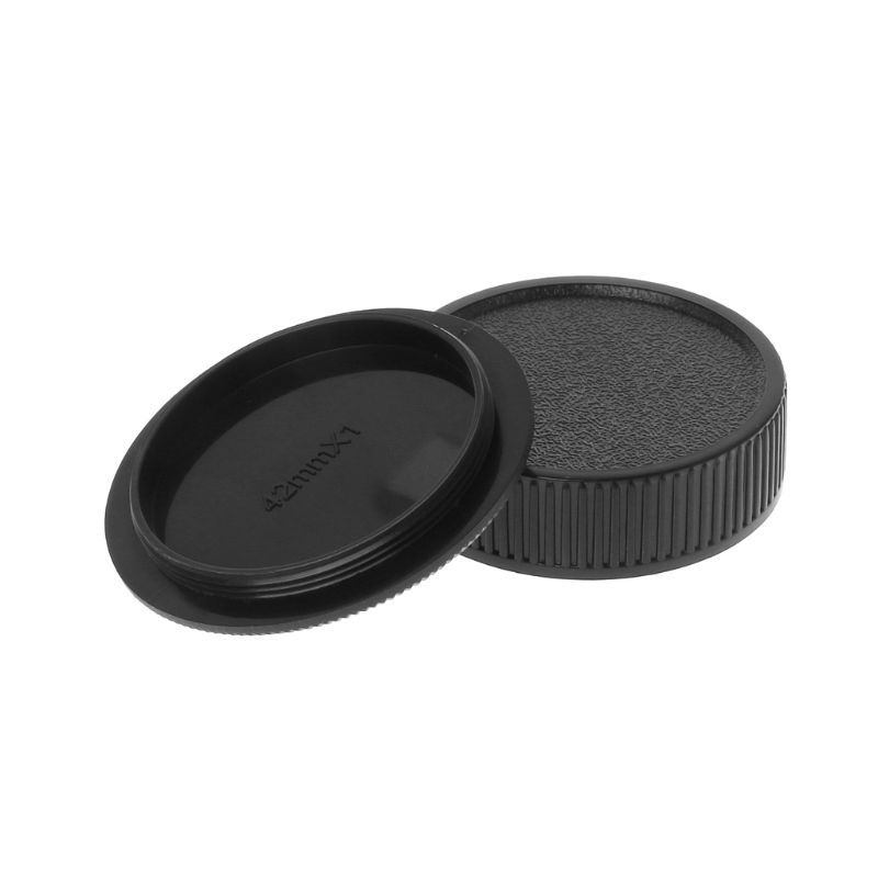 Camera-Cover Screw-Mount-Protection Body-Cap Rear-Lens 42mm M42 Black Anti-Dust New