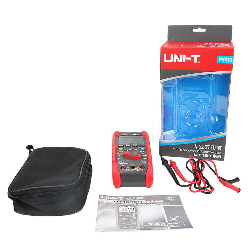 UNI-T ut191e/ut191t 디지털 멀티 미터 군사 품질 ip65 방수 ncv ture rms 6000 카운트 커패시턴스 주파수 온도