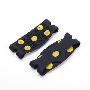 Image 5 - 1 para 5 Stud Snow Ice claw wspinaczka antypoślizgowe kolce uchwyty Crampon buty korki pokrywa dla kobiet mężczyzn pokrowiec na buty rozmiar 35 43