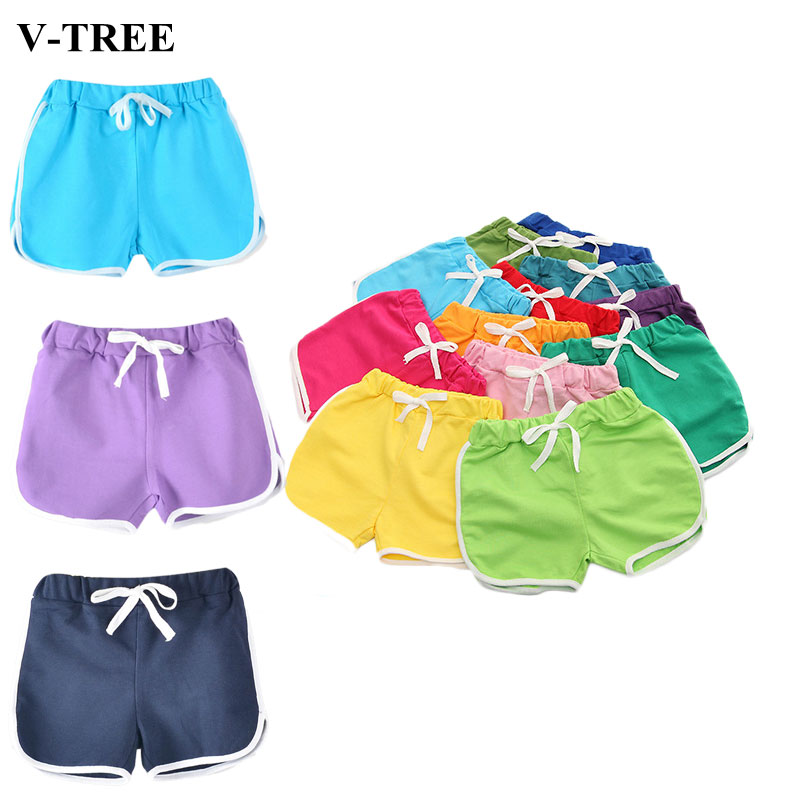 2020 Boys Shorts Candy-colored Shorts For Kids Children Casual Pants Kids Beach Shorts Girls Hot Pants