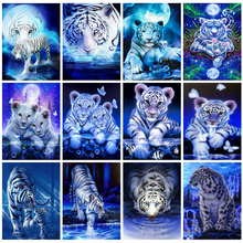 Huacan Diamond Painting Kits Tiger Home Decoration Mosaic Animal Cross Stitch Embroidery Fantasy Diamond Art