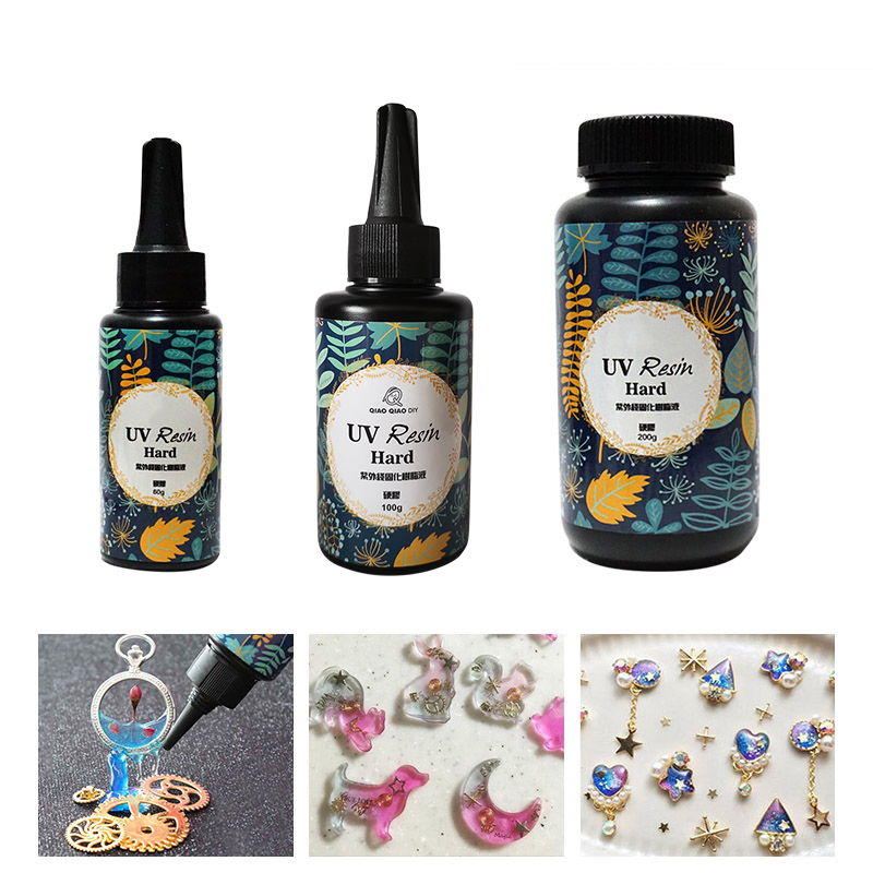 New 10g/15g/25g/60g/100g/200g UV Resin Gel Cured Quick Dry Non-toxic Transparent Hard Activated Sunlight