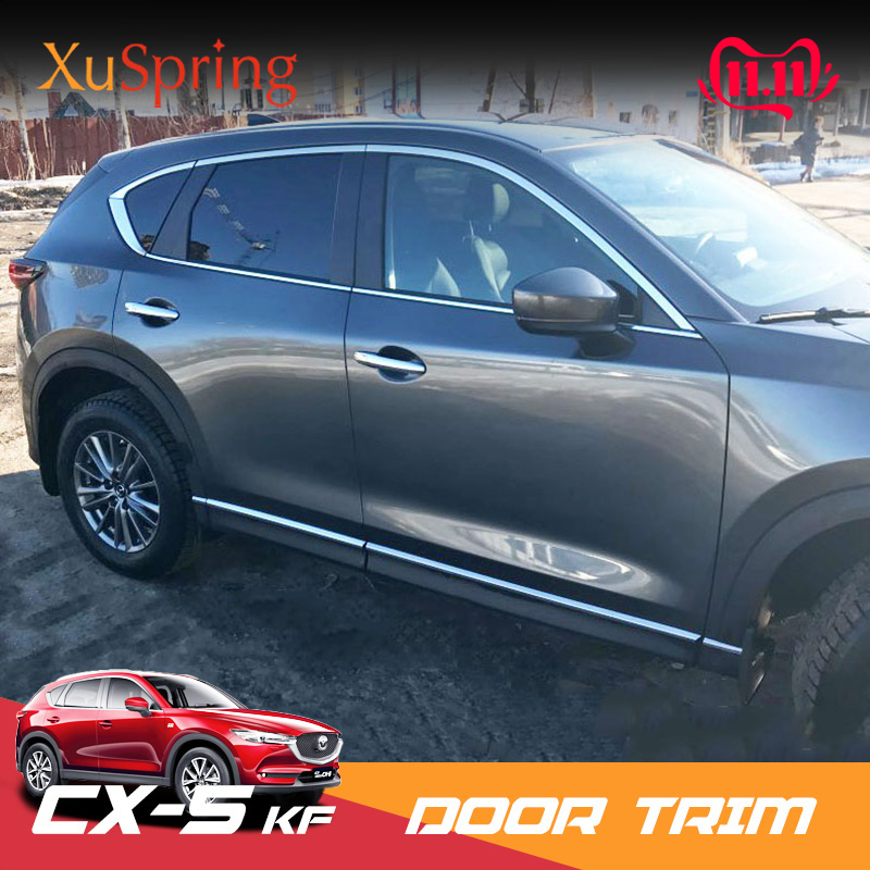 Car Window Trim For <font><b>Mazda</b></font> CX-5 <font><b>CX5</b></font> 2017 2018 <font><b>2019</b></font> KF Chrome Strips Outer Decoration Garnish Cover Strips Refit Car <font><b>accessories</b></font> image