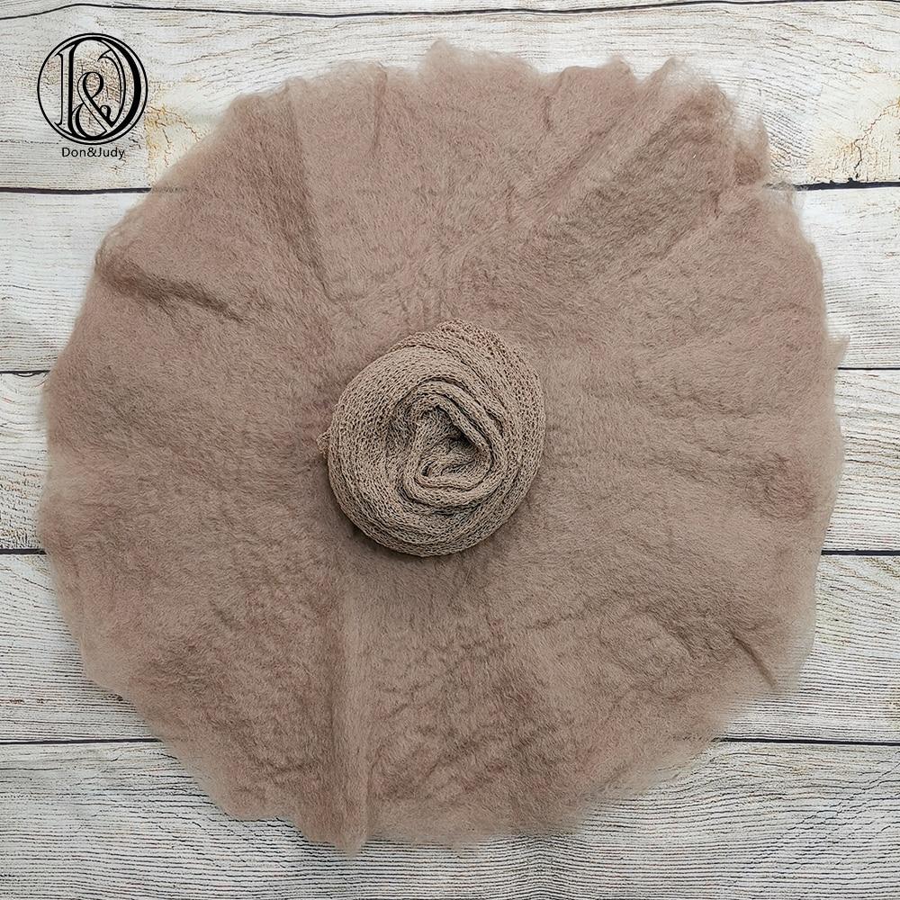 Don&Judy 2pcs/set 100% Wool Blanket+ Wrap Layer Felt Fleece Super Soft Basket Filler Stuffer Newborn Baby Photography Props