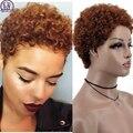 MSIWIGS афро-вьющийся парик для женщин, африканские светильник-коричневые короткие синтетические волосы, Черные милые натуральные