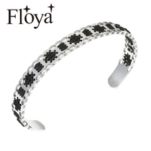 Floya Cross  Boho Hand Weave Bracelets for Women Bangles Bohemian Vintage Cotton Rope Cheap Ethnic Charm Cuff Femme