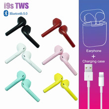 I9s tws Bluetooth Headphone Nirkabel Earphone Warna-warni Hifi Earbud Untuk Iphone Xiaomi Redmi Samsung IOS Handsfree Headset Case(China)