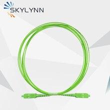New arrival 100Pcs 3.5 Meter Length 1.6mm cable Dia SC/APC-SC/APC SM G657A2 SX Core Green LSZH Jacket Fiber Optic Patch Cord