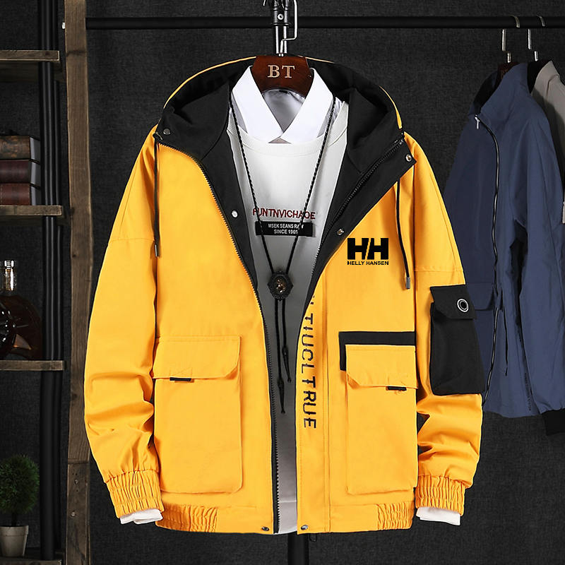 Men's Jackets Clothing Helly Hansen Printed Autumn Waterproof Brand Outerwear Hooded-Coats
