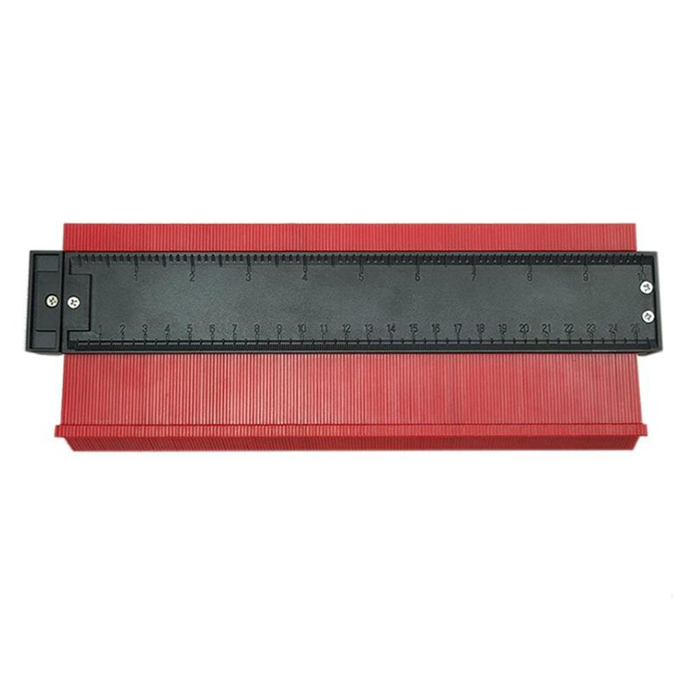 10inch Contour Gauge Profile Copy Gauge Ruler Metric Inch Marking Gauge Shape Duplicator Tiling Laminate Tiles Measuring Tools