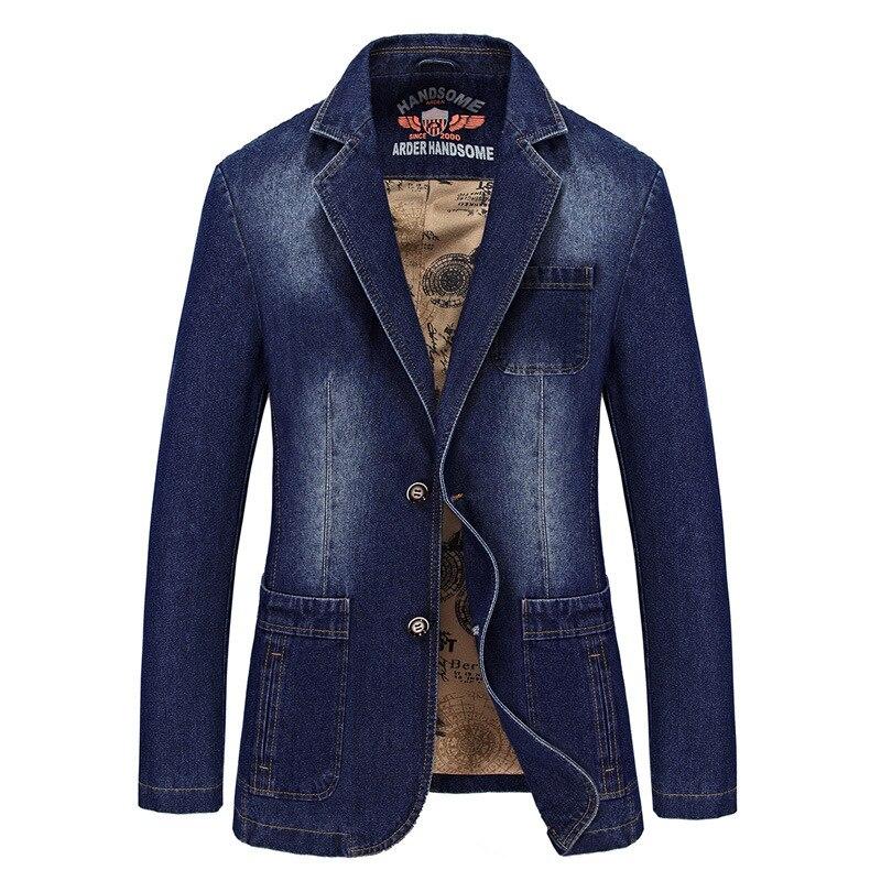 Mens Jackets Men's Spring Autumn Fashion Denim Jackets Men Causal Cowboy Blazers Washed Slim Fit Jean Jacket Coat Male Clothes