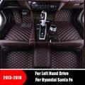 Автомобильные коврики для Hyundai Santa Fe 2018 2017 2016 2015 2014 2013 (7 мест) ковры Авто Интерьер Аксессуары подушечки