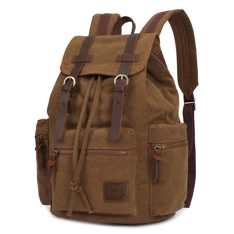 vintage canvas Backpacks Men And Women Bags Travel Students Casual For Hiking Travel Camping Backpack Mochila Masculina
