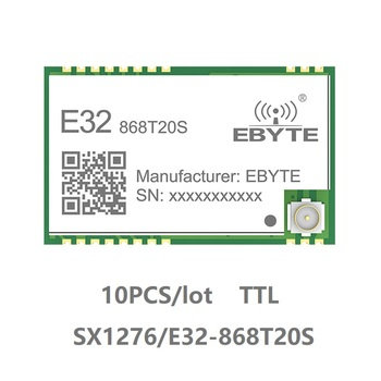 10pcs E32-868T20S SX1276 LoRa 868 MHz IPEX 100mW SMD Wireless Transceiver 868mhz TTL Long Range Transmitter and Receiver