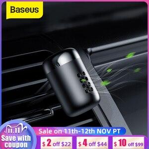 Image 1 - Baseus Metal coche Perfume aire ambientador aromaterapia sólido para la salida de aire del coche ambientador aire acondicionado Clip difusor