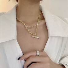 Pendant-Necklaces Chokers Punk Jewelry Multi-Chains Crystal Hiphop Women for Statement