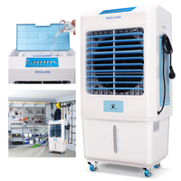 DUOLANG 2059 CFM Outdoor Indoor Portable Evaporative Cooler Swamp Cooler with Tower Fan & Air Conditioner &Humidifier&Blower for