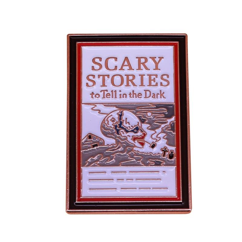Scary Stories To Tell In The Dark Enamel Pin Retro Book Badge Nostalgia 80s 90s Kids Flair Addition