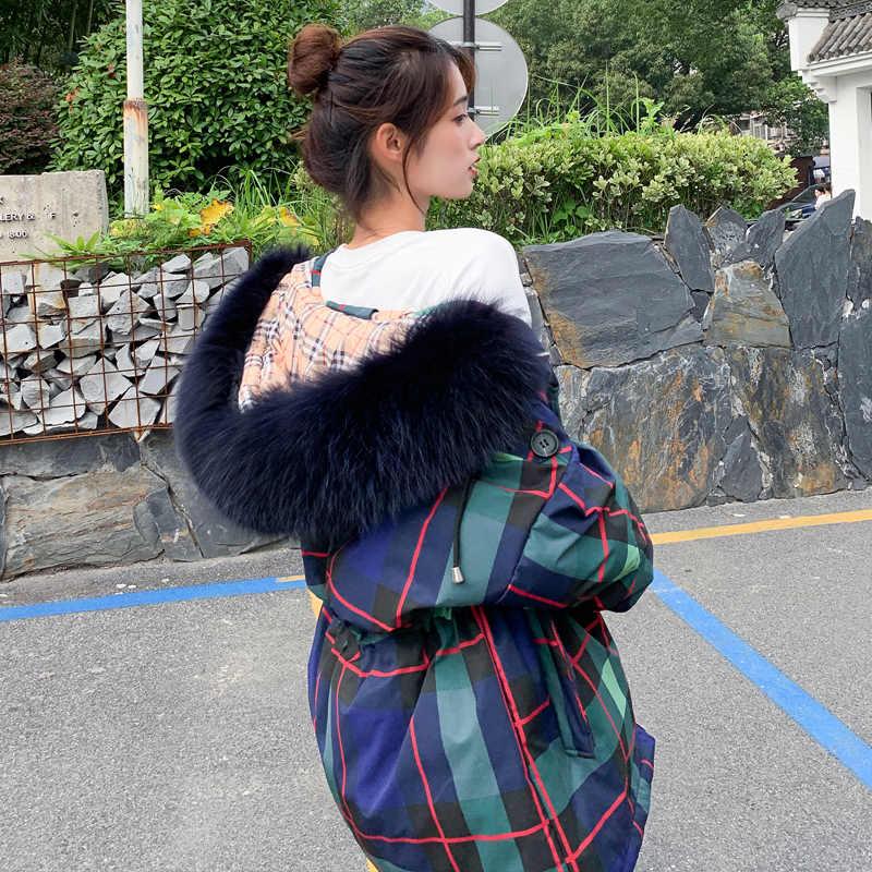 เสื้อแจ็คเก็ตสตรีฤดูหนาว 2019 ใหม่ hooded ผู้หญิงลงเสื้อขนสัตว์ซิปยาวผู้หญิงเสื้อผู้หญิงฤดูหนาวผู้หญิงอบอุ่นลงแจ็คเก็ต