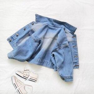 Image 3 - Babyinstar Girls Denim Jacket & Coats Kids Outwear Childrens Jacket  Baby Clothes Girls Fashion Style Jeans Jacket Girls Coats
