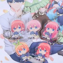 1Pc Anime Go-Toubun No Hanayome The Quintuplets Nakano Miku Loli Acrylic Figure Keychain Pendants Gifts(China)