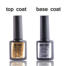 Yayoge10ml top coat base coat gel Nail polish Primer, base Trucco Non Pulire Soak off gel UV nails polacco di arte Del Chiodo Non acido tutti per le unghie(China)