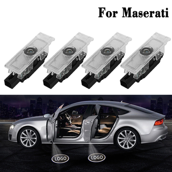 2 Pcs LED Welcome Lights For Maserati Quattroporte Ghibli GranTurismo GranCabrio Levante Auto Car Door Logo Laser Projector Lamp image