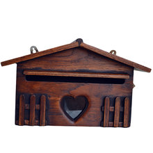 Ретро деревянный почтовый ящик изысканный открытый непромокаемый