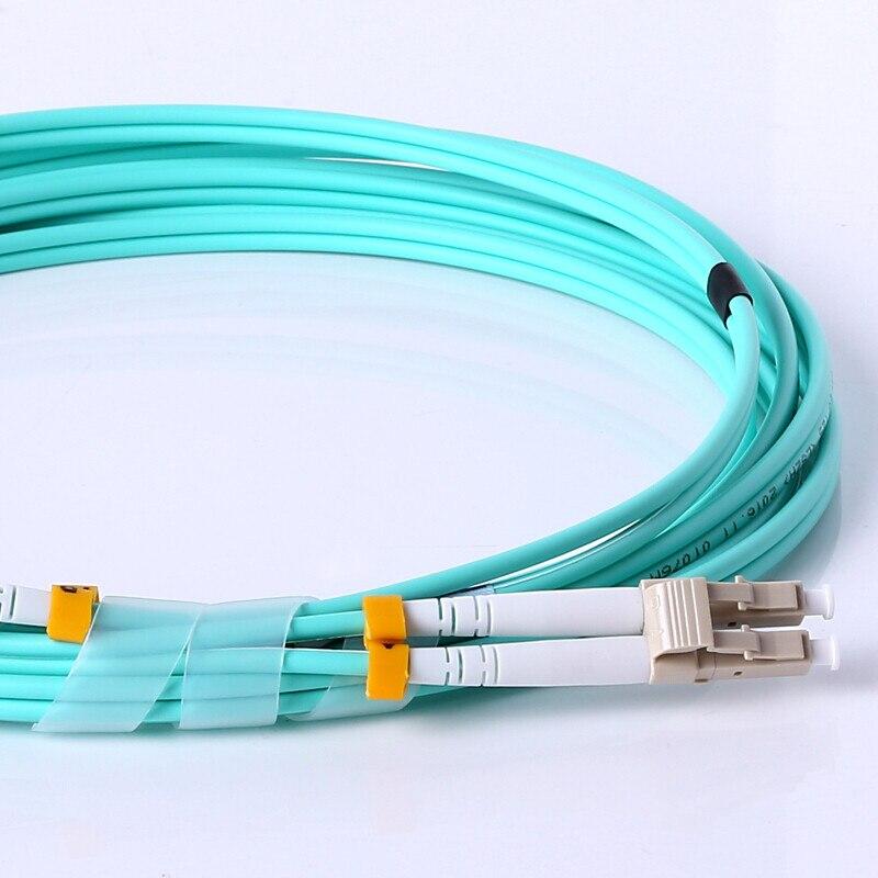 Волоконный соединительный кабель, AMPCOM 10G гигабитные волоконно-оптические кабели с LC в LC многомодовый OM3 дуплексный 50/125 LSZH