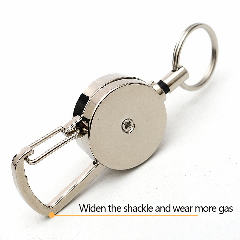 Outdoor Resilience Steel Wire Rope Elastic Keychain Sporty Retractable Alarm Key Ring Anti Lost Keychain Outdoor Tools Hot