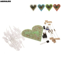 DIY Kit Heart Shape Breathing Lamp Kit DC 4V-6V Breathing LED Suite Red White Blue Green DIY