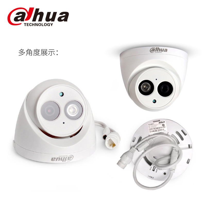 lowest price Dahua  IPC-HDW4631C-A  6MP POE H 265 Dome IP Camera Built-in mic IPC-HDW4433C-A 4MP IR security cctv Dome Camera PFB203W PFB204W